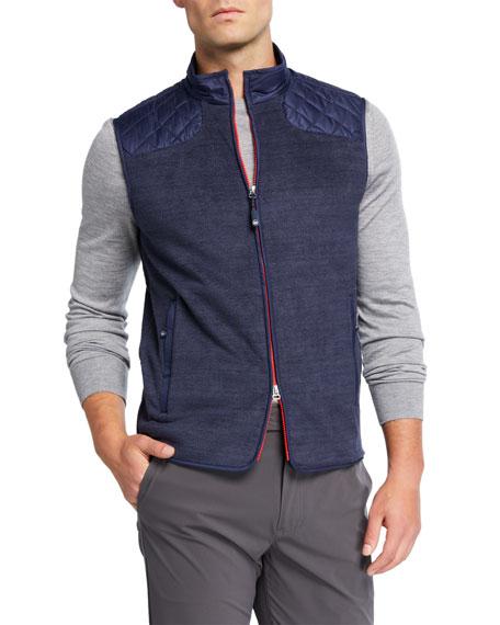 Peter Millar Men's Sherpa Fleece-Lined Vest