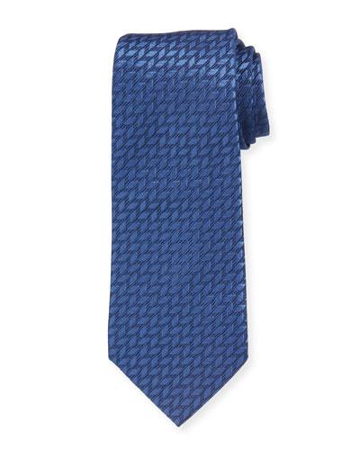 Tonal Zigzag Stripe Silk Tie