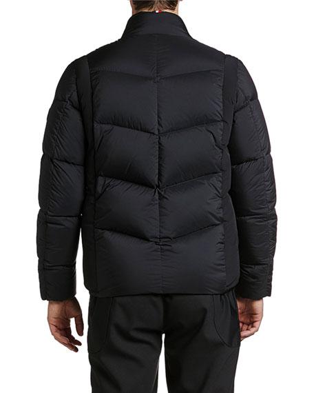 Moncler Men's Leblanc Asymmetrical-Pocket Puffer Coat