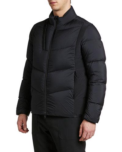 Men's Leblanc Asymmetrical-Pocket Puffer Coat