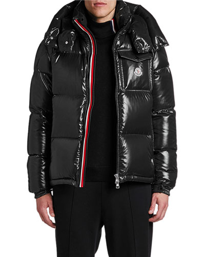 Men's Montebeliard Double-Zip Hooded Puffer Parka Coat