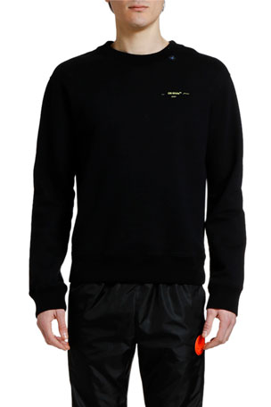 Off-White Men's Acrylic Arrows Slim Crewneck Sweatshirt