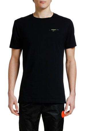 Off-White Men's Acrylic Arrows Slim Crewneck T-Shirt