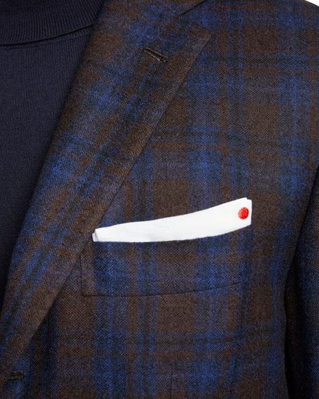 Kiton Men's Plaid Cashmere Sport Jacket