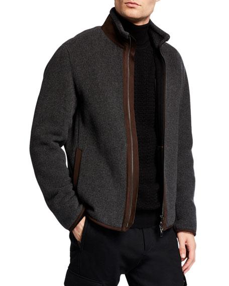 Ermenegildo Zegna Men's Wool-Cashmere Jacket with Leather Lining