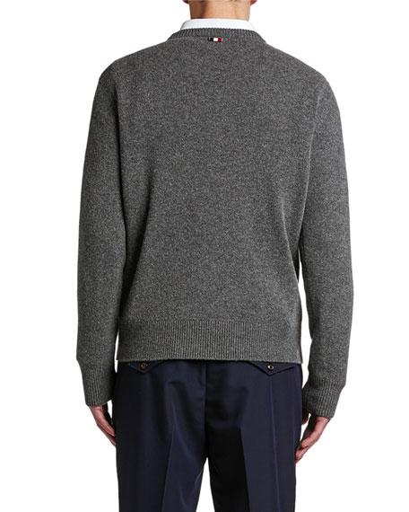 Moncler Men's Logo Stamp Wool Sweater