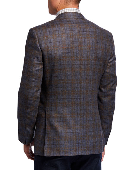 Canali Men's Plaid Two-Button Wool Jacket