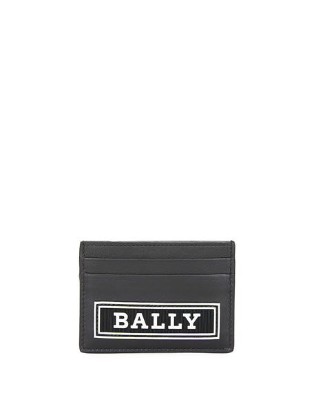 Bally Men's Bhar Leather Logo Card Case