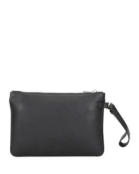 Bally Men's Bex Leather Wristlet Pouch Bag