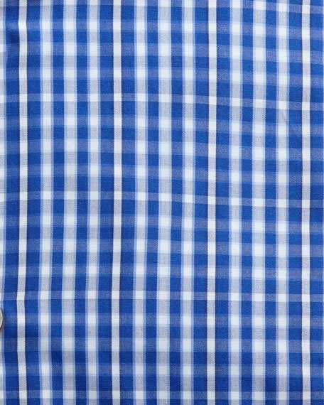 Image 2 of 2: Kiton Men's Check Cotton Dress Shirt