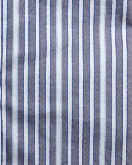 Image 2 of 2: Kiton Men's Multi-Stripe Cotton Dress Shirt