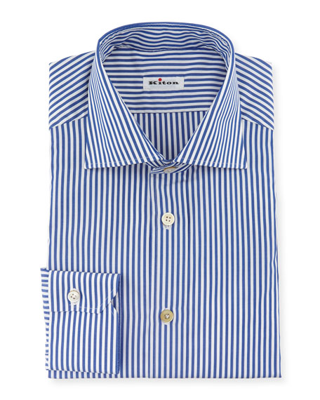 Kiton Men's Bengal-Stripe Dress Shirt