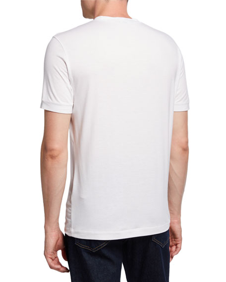 Image 2 of 2: Giorgio Armani Men's Crewneck T-Shirt