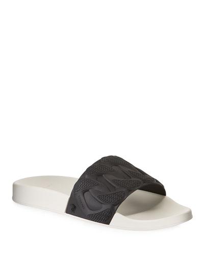 Men's Chain Reaction Rubber Slide Sandals