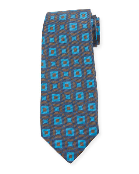 Kiton Ties CONNECTED CIRCLES SILK TIE