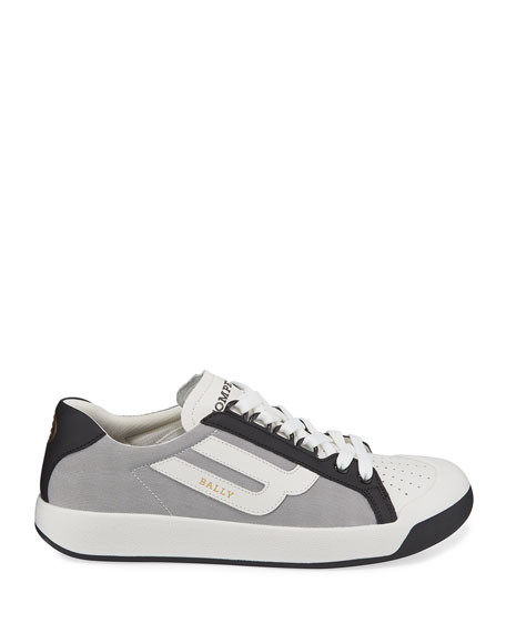 Bally Men's New Competition Mesh & Leather Sneakers