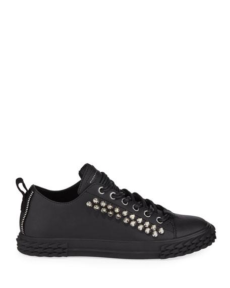 Giuseppe Zanotti Men's Studded Blabber Leather Sneakers