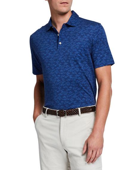 Peter Millar Men's Fish-Print Polo Shirt
