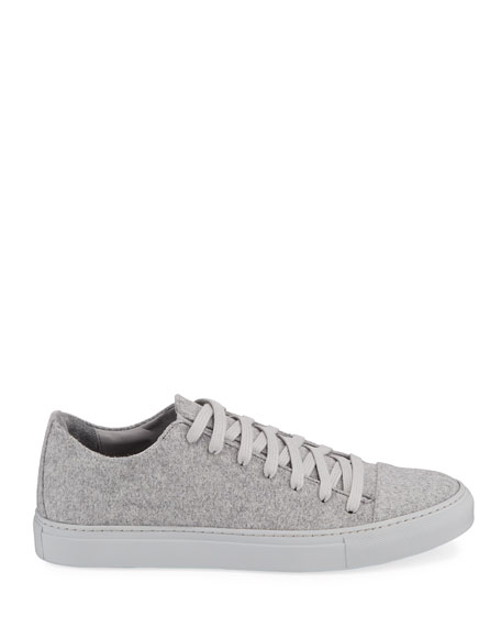 John Varvatos Men's Reed Low-Top Wool-Felt Sneakers