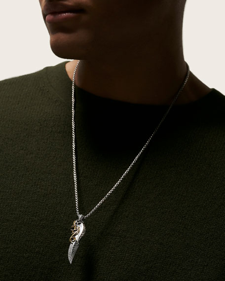 John Hardy Men's Classic Chain 18K Yellow Gold & Sterling Silver Pendant Necklace