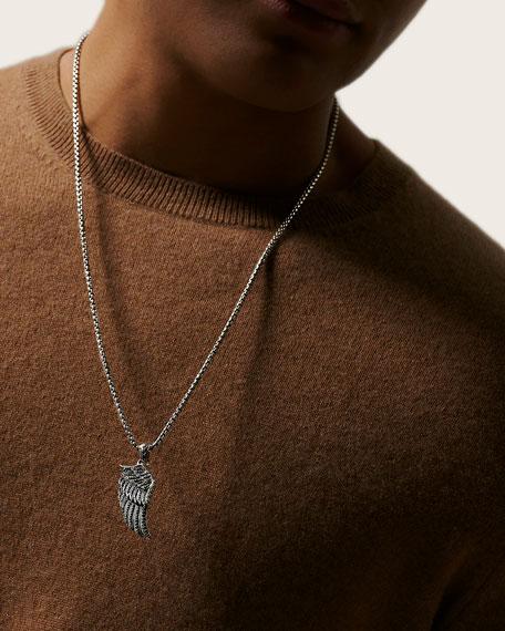 John Hardy Men's Legends Black Sapphire & Spinel Eagle Pendant Necklace