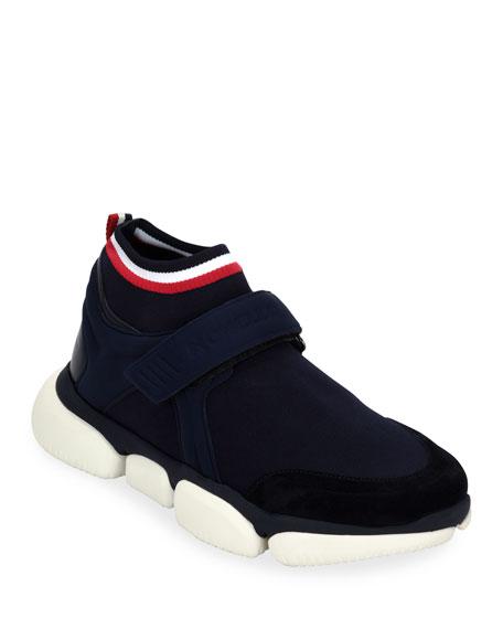 Moncler Men's Barnie Grip-Strap Sneakers
