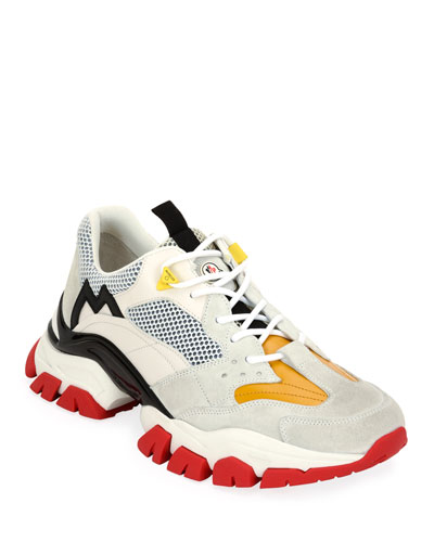 Men's Leave No Trace Colorblock Mesh & Leather Sneakers