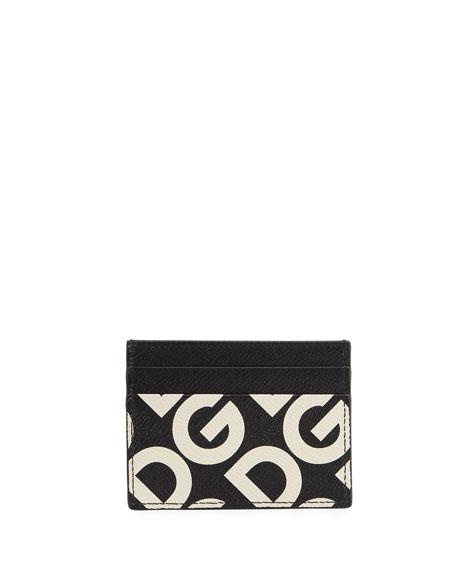 Dolce & Gabbana Men's DG Logo Maina Leather Card Case