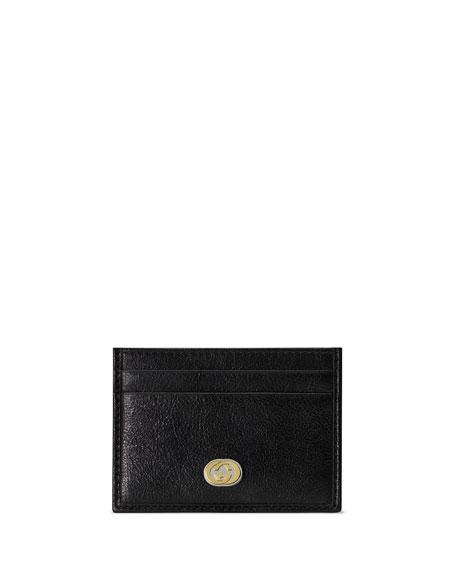 Gucci Men's GG Logo Leather Card Case