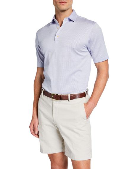 Peter Millar Men's Crown Ease Striped Cotton Lisle Polo Shirt