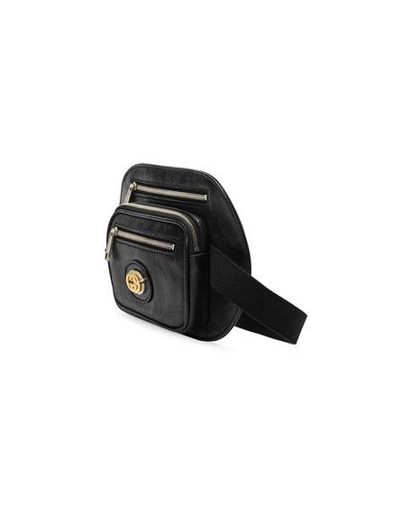 Gucci Men's Three-Pocket Leather Belt Bag