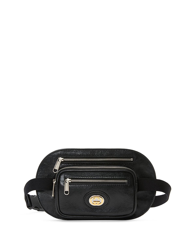 a135096de2bd Gucci Men's Three-Pocket Leather Belt Bag | Neiman Marcus