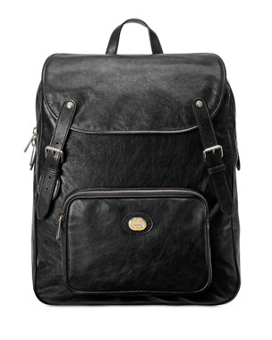 93a3a50b403 Gucci Men s Medium Leather Buckle Backpack
