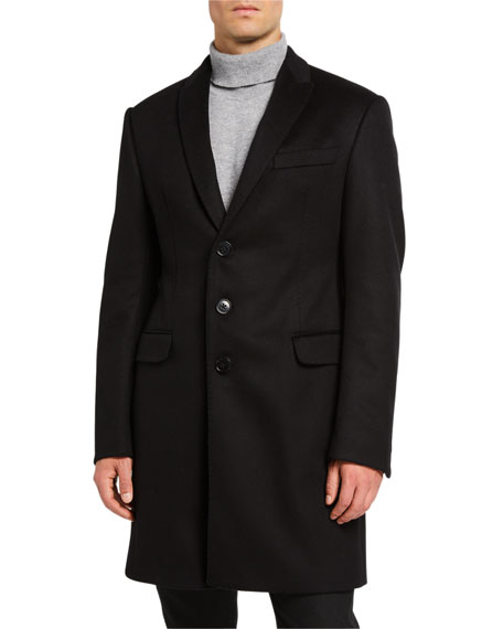 Emporio Armani Men's Solid Water-Resistant Topcoat