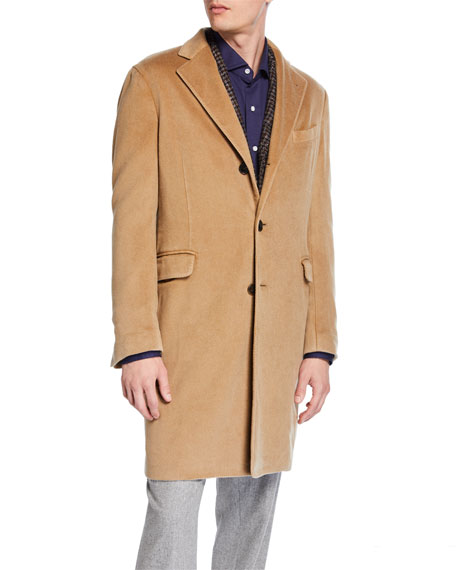 Boglioli Men's Garment-Dyed Top Coat