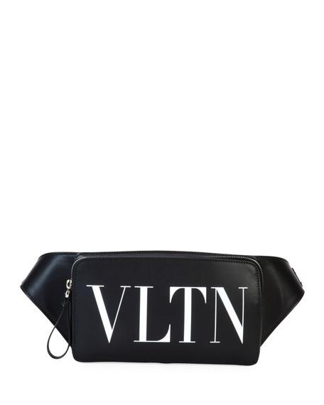 Valentino Garavani Men's VLTN Leather Belt Bag
