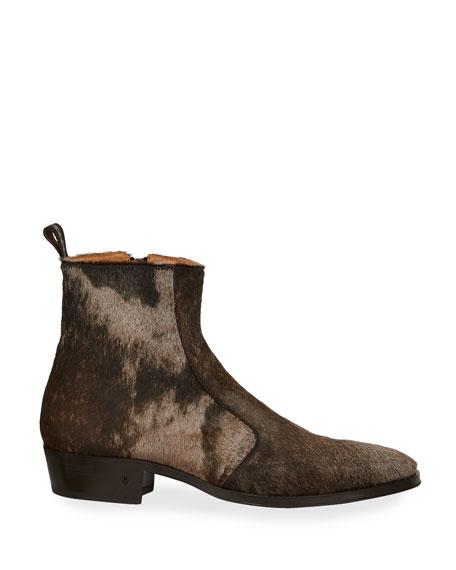 John Varvatos Men's Ludlow Vintage Calf Hair Ankle Boots