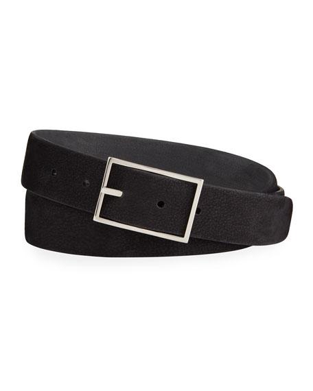 Simonnot Godard Men's Nubuck Reversible Belt