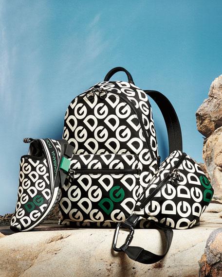 Dolce & Gabbana Men's Logo Mania Nylon Backpack