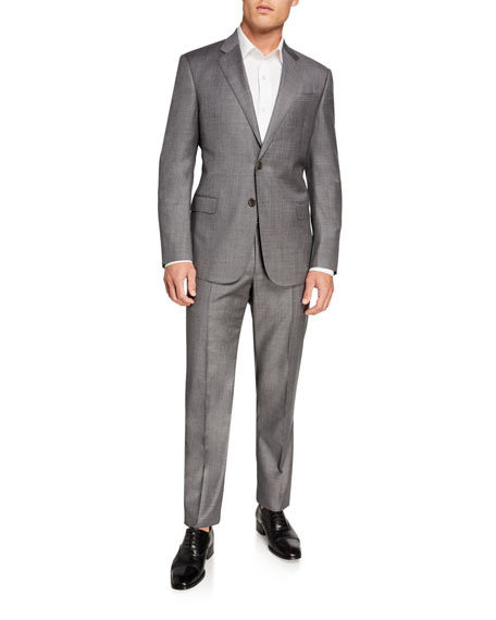 Image 2 of 4: Giorgio Armani Men's Sharkskin Two-Piece Suit