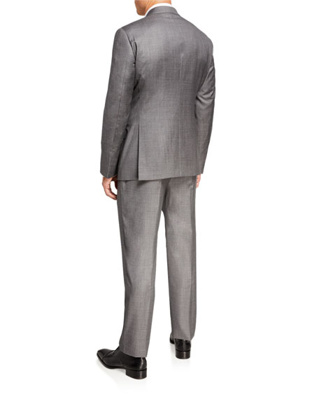 Image 3 of 4: Giorgio Armani Men's Sharkskin Two-Piece Suit