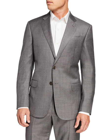 Image 1 of 4: Giorgio Armani Men's Sharkskin Two-Piece Suit