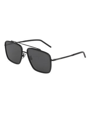a3c90f5a0d Dolce   Gabbana Men s Square Metal Double-Bridge Sunglasses