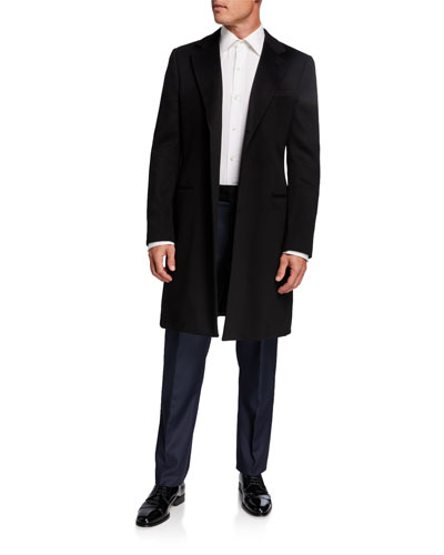 Men's Solid Wool-Cashmere Topcoat