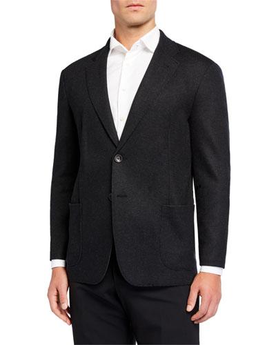 Men's Double-Face Wool Two-Button Sport Coat