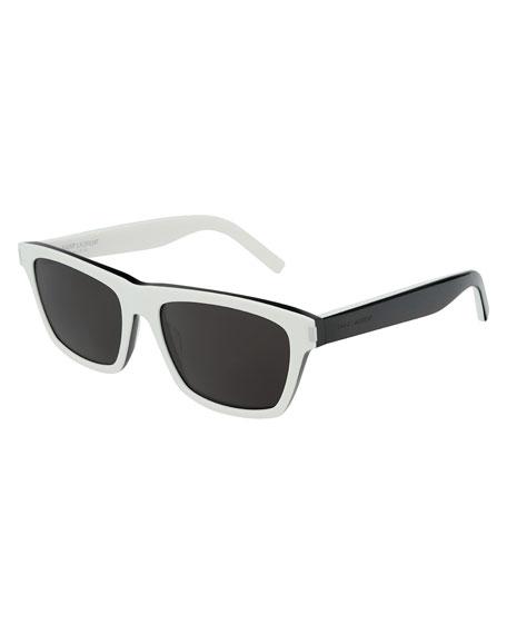 Saint Laurent Men's Two-Tone Rectangle Sunglasses
