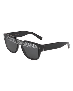 e92dfa19598a Dolce & Gabbana Men's Logo Monogram Square Sunglasses