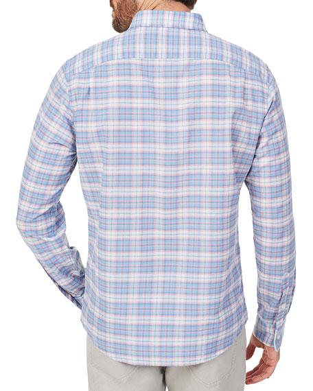 Faherty Men's Stretch Summer-Blend Sport Shirt, Saugatuck Plaid