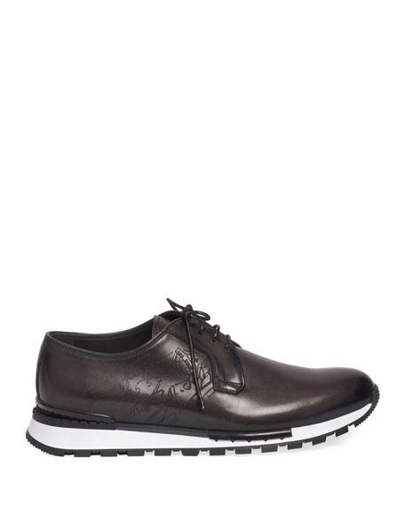 Berluti Men's Fast Track Torino Scritto Calf Leather Sneaker