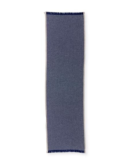 Brunello Cucinelli Men's Birdseye Cashmere Scarf